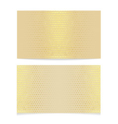 Metallic halftone business card vector