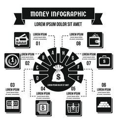 Money infographic concept simple style vector