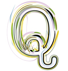 Organic Font letter q vector image vector image