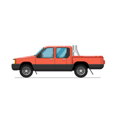 Pick up truck isolated icon vector