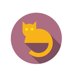 Simple flat cat icon vector