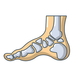 Xray of foot icon cartoon style vector
