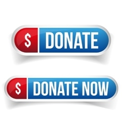 Donate and donate now button vector