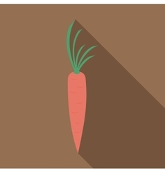 Fresh carrot icon flat style vector
