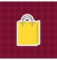 Shopping bag purchase vector