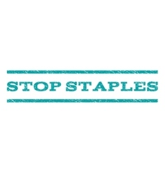 Stop staples watermark stamp vector