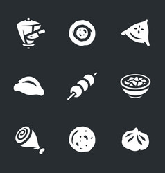 set of food icons vector image