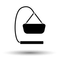 baby hanged cradle ico vector image