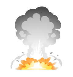 simple bomb explosion vector image