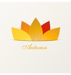 Autumn leaves abstract background vector image
