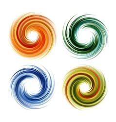Colorful abstract icon set dynamic flow vector