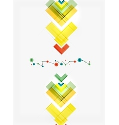 Clean colorful unusual geometric pattern design vector