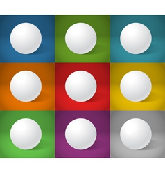 White sphere collection vector