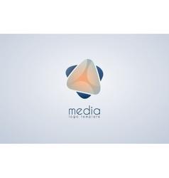 Abstract colored logo Media logo vector image vector image