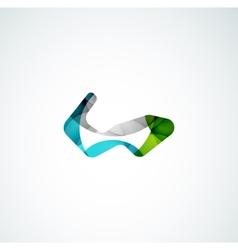 Abstract shape logo design vector