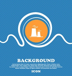 Atomic power station icon sign blue and white vector