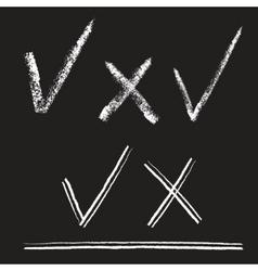 Chalk alphabet vector