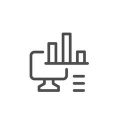 computer analytics line icon vector image vector image