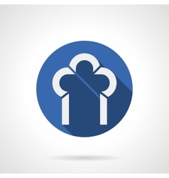 Construction of arches blue round icon vector image