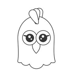 Cute chicken cartoon icon vector