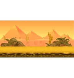Desert Game Background vector image vector image