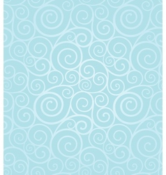 Frosty winter swirl seamless pattern vector
