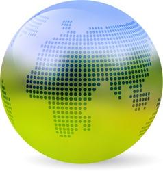Globe blurred landscape vector image