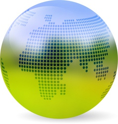 Globe blurred landscape vector