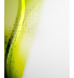 Green and yellow wave layout vector image