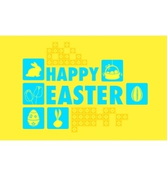 Happy Easter Collage Background vector image vector image
