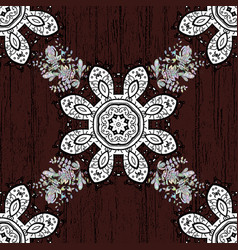 Indian floral paisley medallion banners can be vector