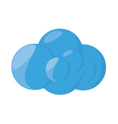 Isolated web cloud vector