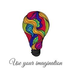 Lightbulb Hand-Drawn Doodles vector image vector image