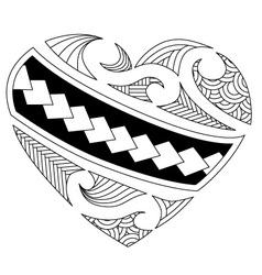 maori heart vector image