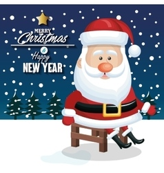 Merry christmas and happy new yaer santa claus vector