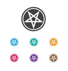 of dyne symbol on pentagram vector image