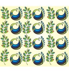 Peacocks vector image vector image