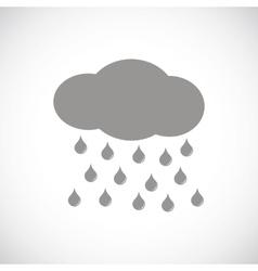 Rain black icon vector