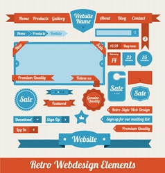 Retro Web Design Elements vector image vector image