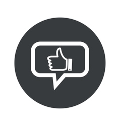 Round like dialog icon vector