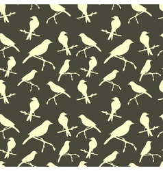 Seamless pattern with birds vector
