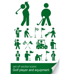 set of golf icon vector image vector image