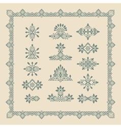 Set of vintage graphic elements for design border vector