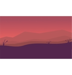Silhouette of mountain and fog landscape vector image vector image
