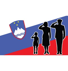 slovenia soldier family salute vector image