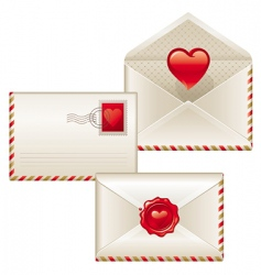 three love letters vector image
