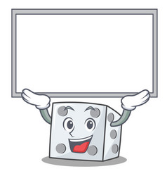 Up board dice character cartoon style vector