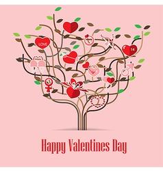 Valentine Love icon Tree vector image