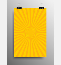 Vertical Poster Yellow Shining Sun-Rays Rays vector image