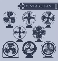 Vintage fan I vector image
